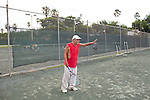 "David Lifshultz plays tennis with his son in Flaming Park in Miami Beach, Florida July 17, 2011. He wonders how new retirees can ""meet their expectations"" if Social Security loses funding. ""It's devastating,"" he said...Kendrick Brinson/LUCEO"