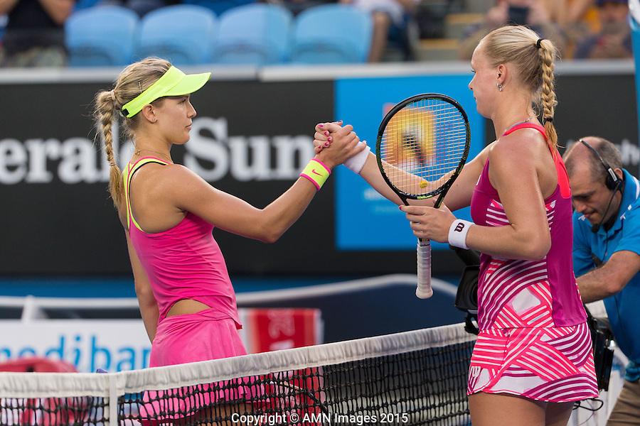 Eugenie Bouchard (CAN)<br /> <br /> Tennis - Australian Open 2015 - Grand Slam -  Melbourne Park - Melbourne - Victoria - Australia  - 21 January 2015. <br /> &copy; AMN IMAGES