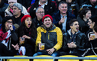 Fans in the grandstand during the Steinlager Series international rugby match between the New Zealand All Blacks and France at Westpac Stadium in Wellington, New Zealand on Saturday, 16 June 2018. Photo: Dave Lintott / lintottphoto.co.nz