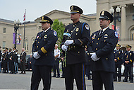 Washington, DC - May 9, 2014:  U.S. Capitol Police officers participate in the 35th Annual Washington Area Law Enforcement Memorial Service during National Police Week May 9, 2014.  (Photo by Don Baxter/Media Images International)