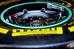 Detail of a tire during the tests for the new Formula One Grand Prix season at the Circuit de Catalunya in Montmelo, Barcelona. February 19, 2020 (ALTERPHOTOS/Javier Martínez de la Puente)