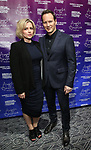 """Dagmara Dominczyk and Patrick Wilson attends The American Associates of the National Theatre's Gala celebrating Tony Kushner's """"Angels in America"""" on March 11, 2018 at the Ziegfeld Ballroom,  in New York City."""