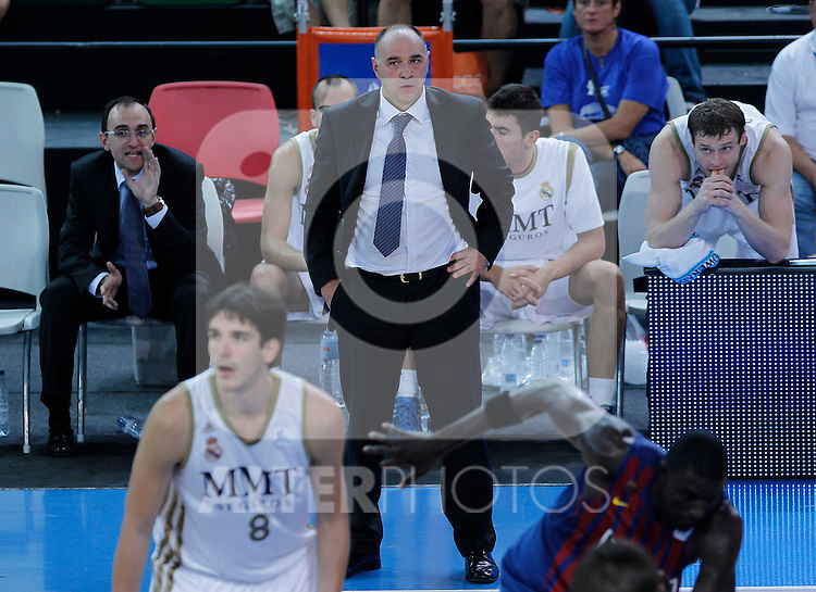 Real Madrid's coach Pablo Laso during Supercopa ACB Semifinal match.September 30,2011. (ALTERPHOTOS/Acero)