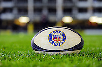 A general view of a Bath Rugby ball on the pitch. Aviva Premiership match, between Bath Rugby and Sale Sharks on October 7, 2016 at the Recreation Ground in Bath, England. Photo by: Patrick Khachfe / Onside Images