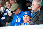 Lowestoft Town 2 Barrow 3, 25/04/2015. Crown Meadow, Conference North. Barrow make the six-hour trip to Suffolk needing a win to secure the title. A Lowestoft fan with a Trawler Boys hat. Photo by Simon Gill.