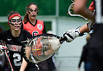 GER - Hannover, Germany, May 30: During the Women Lacrosse Playoffs 2015 match between DHC Hannover (black) and SC Frankfurt 1880 (red) on May 30, 2015 at Deutscher Hockey-Club Hannover e.V. in Hannover, Germany. Final score 23:3. (Photo by Dirk Markgraf / www.265-images.com) *** Local caption *** Mareile Kriwall #2 of DHC Hannover