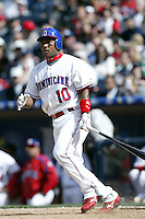 Miguel Tejada of the Dominican Republic during semi final game against Cuba during the World Baseball Championships at Petco Park in San Diego,California on March 18, 2006. Photo by Larry Goren/Four Seam Images