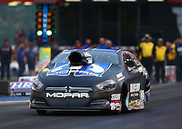 Jun 19, 2015; Bristol, TN, USA; NHRA pro stock driver Richie Stevens Jr during qualifying for the Thunder Valley Nationals at Bristol Dragway. Mandatory Credit: Mark J. Rebilas-
