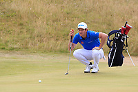 Ricardo Gouveia (POR) on the 7th green during Round 3 of the Dubai Duty Free Irish Open at Ballyliffin Golf Club, Donegal on Saturday 7th July 2018.<br /> Picture:  Thos Caffrey / Golffile
