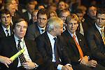 Vorrundenauslosung FIFA Fussball Weltmeisterschaft Deutschland 2006<br /> <br /> Guentern Netzer, Rudi Voeller, Juergen Klinsmann und Oliver Bierhoff<br /> <br /> Foto &copy; nordphoto *** Local Caption ***