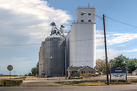 Grain elevator in the Route 66 town of Elkhart Illinois.