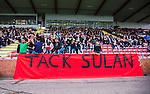 S&ouml;dert&auml;lje 2014-05-18 Fotboll Superettan Syrianska FC - Hammarby IF :  <br /> Syrianskas supportrar med en banderoll med texten Tack Sulan som h&auml;lsning till Suleyman Sleyman<br /> (Foto: Kenta J&ouml;nsson) Nyckelord:  Syrianska SFC S&ouml;dert&auml;lje Fotbollsarena Hammarby HIF Bajen supporter fans publik supporters