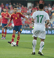 07.09.2012 Pontevedra, Spain. Friendly match between teams from Saudi Arabia vs Spain (4-0). Pasarón played at the stadium. The photo shows Pedro Rodriguez Ledesma (Spanish forward of Barcelona)