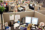 "AFLAC call center employees answer calls from customers at a campus in Columbus, Georgia October 21, 2010. The center has changed the recorded voice to one that is more appealing to customers...""CREDIT: Kendrick Brinson/LUCEO The Wall Street Journal"".Voice"