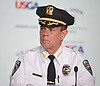 Steven Skrynecki, Southampton Chief of Police, sits during a news conference on Sunday, June 10, 2018 at Shinnecock Hills Golf Club, which is hosting the 118th US Open Championship.