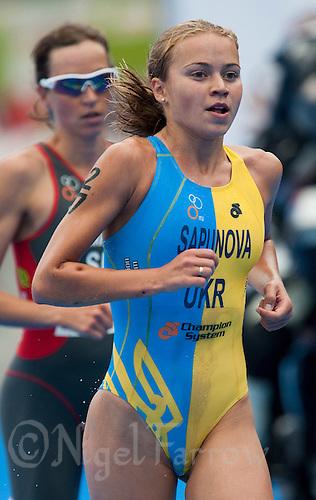 12 JUL 2009 - KITZBUHEL, AUT - Yuliya Sapunova - ITU World Championship Series Womens Triathlon.(PHOTO (C) NIGEL FARROW)