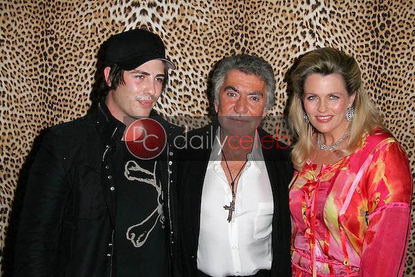 Brandon Davis, Roberto Cavalli and Nancy Davis