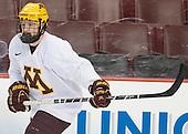 Ben Marshall (MN - 10) - The University of Minnesota Golden Gophers practiced on Wednesday, April 9, 2014, at the Wells Fargo Center during the 2014 Frozen Four in Philadelphia, Pennsylvania.