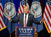 Donald J. Trump, the Republican candidate for President of the United States, makes a campaign appearance at Briar Woods High School in Ashburn, Virginia on Tuesday, August 2, 2016.<br /> Credit: Ron Sachs / CNP