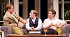 My Night with Reg <br /> by Kevin Elyot <br /> at the Apollo Theatre, London, Great Britain <br /> Press photocall<br /> 20th January 2015 <br /> Jonathan Broadbent as Guy <br /> Geoffrey Streatfeild as Daniel <br /> Julian Ovenden as John <br /> Photograph by Elliott Franks <br /> Image licensed to Elliott Franks Photography Services