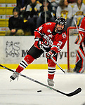 19 January 2008: Northeastern University Huskies' defenseman Denis Chisholm, a Junior from Fox Valley, Saskatchewan, in action against the University of Vermont Catamounts at Gutterson Fieldhouse in Burlington, Vermont. The Catamounts defeated the Huskies 5-2 to close out their 2-game weekend series...Mandatory Photo Credit: Ed Wolfstein Photo