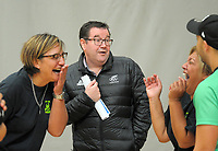 The Minister of Sport, Grant Robertson and P.I.C netball coach Waimarama Taumaunu (left), P.I.C president Martha Taru and manager James Laursen (right). Value Of Sport Launch at ASB Sports Centre in Wellington, New Zealand on Saturday, 17 March 2018. Photo: Dave Lintott / lintottphoto.co.nz