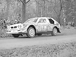 Pix: Shaun Flannery/shaunflanneryphotography.com...COPYRIGHT PICTURE>>SHAUN FLANNERY>01302-570814>>07778315553>>..1985 Lombard RAC Rally..Henri Toivonen and Neil Wilson power their Lancia Delta S4 through Clumber Park on their way to victory.