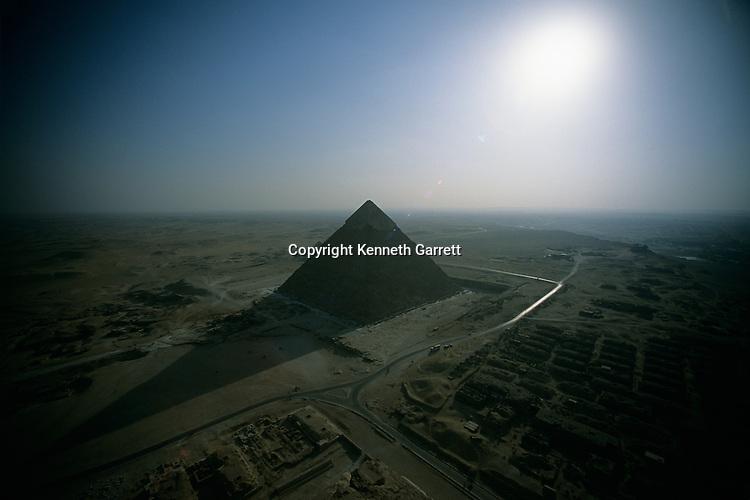 Egypt's Old Kingdom; Giza Plateau; Giza; Egypt; aerial