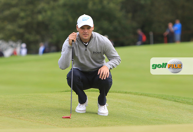 Martin Kaymer (GER) on the 1st green during Round 4 of Made in Denmark at Himmerland Golf &amp; Spa Resort, Farso, Denmark. 27/08/2017<br /> Picture: Golffile | Thos Caffrey<br /> <br /> All photo usage must carry mandatory copyright credit     (&copy; Golffile | Thos Caffrey)