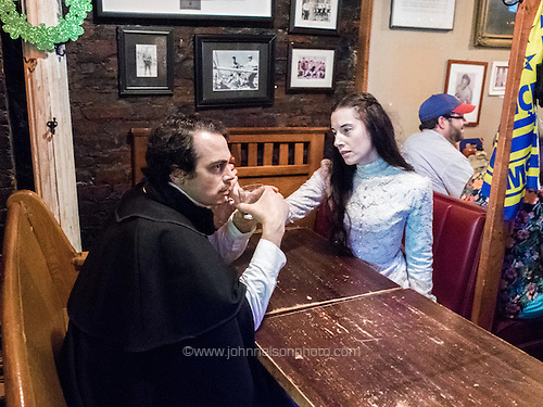 Edgar Allan Poe and Virginia Eliza Clemm Poe visit the dive bar The Pug on H Street NE in Washington, DC.<br /> PHOTOS/John Nelson