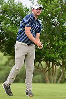 Steven Alker (NZL) watches his tee shot on 18 during round 2 of the Valero Texas Open, AT&amp;T Oaks Course, TPC San Antonio, San Antonio, Texas, USA. 4/21/2017.<br /> Picture: Golffile | Ken Murray<br /> <br /> <br /> All photo usage must carry mandatory copyright credit (&copy; Golffile | Ken Murray)