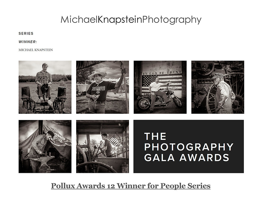 Michael Knapstein was awarded First Place for People Series in the 12th annual Pollux Awards, an international photography competition based in Kent, England.