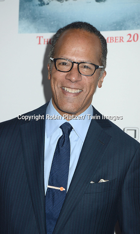 "Lester Holt attends the party for NBC's "" A White House Christmas: First Families Remember"" on December 11, 2012 at Tenjune in New York City."