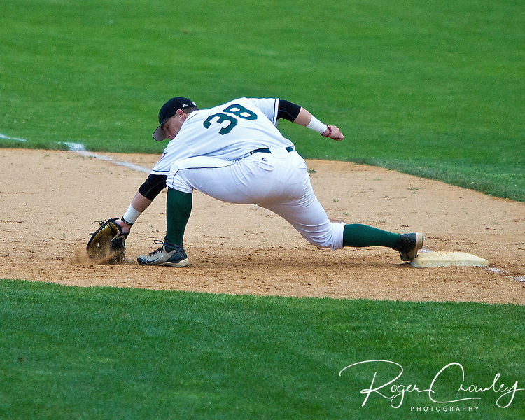 The Danbury Westerners pushed two runs across in the top of the ninth inning, breaking a 6-6 tie en route to an 8-6 victory over the Vermont Mountaineers in New England Collegiate Baseball League (NECBL) action at Montpelier Recreation Field on Saturday night.