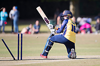 Simon Cook of Essex is castled during Upminster CC vs Essex CCC, Benefit Match Cricket at Upminster Park on 8th September 2019