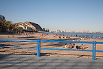 Postiguet Beach in Alicante, Spain