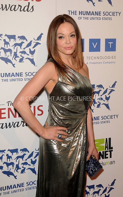 WWW.ACEPIXS.COM . . . . .  ....March 24 2012, LA....Rose McGowan arriving at the 26th Annual Genesis Awards at The Beverly Hilton Hotel on March 24, 2012 in Beverly Hills, California. ....Please byline: PETER WEST - ACE PICTURES.... *** ***..Ace Pictures, Inc:  ..Philip Vaughan (212) 243-8787 or (646) 769 0430..e-mail: info@acepixs.com..web: http://www.acepixs.com