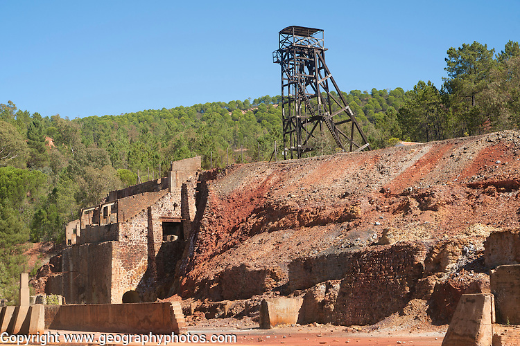 Rio Tinto open cast mining area, Spain