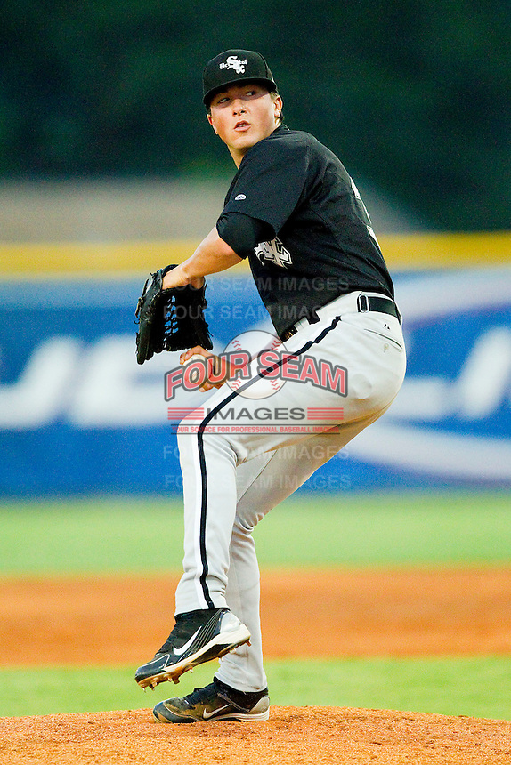 Relief pitcher Bryan Blough #30 of the Bristol White Sox in action against the Burlington Royals at Burlington Athletic Park on July 10, 2011 in Burlington, North Carolina.  The White Sox defeated the Royals 4-3.   (Brian Westerholt / Four Seam Images)