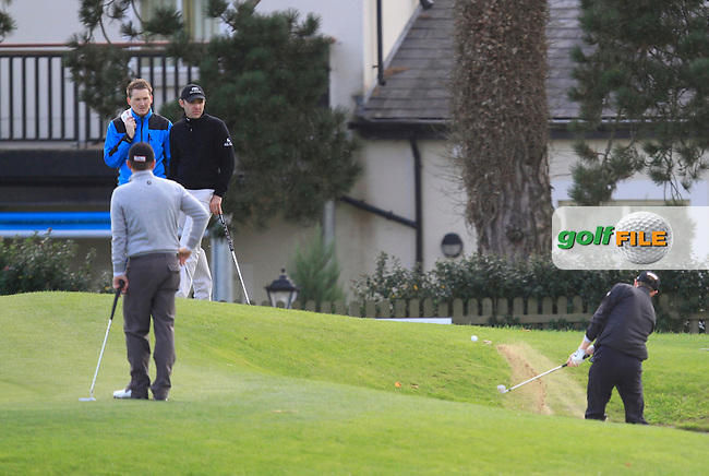 Daniel Sugrue (Killarney Golf &amp; Fishing Club) on the 9th during Round 2 of The Cassidy Golf 103rd Irish PGA Championship in Roganstown Golf Club on Friday 11th October 2013.<br /> Picture:  Thos Caffrey / www.golffile.ie