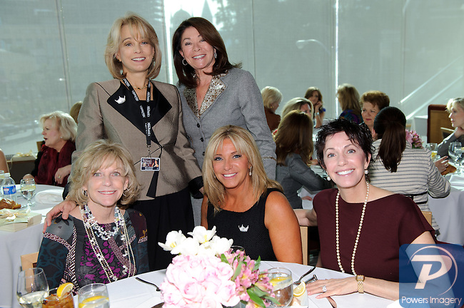 (back row first) Sue Lowden, Gloria Finn, (front row) Pam Brown, Jodi Fonfa, Whitney duBoof at the 90th Anniversary Miss America luncheon held at Nieman Marcus inside the Fashion Show Mall, Las Vegas, NV, January 13, 2011 © Al Powers / Vegas Magazine