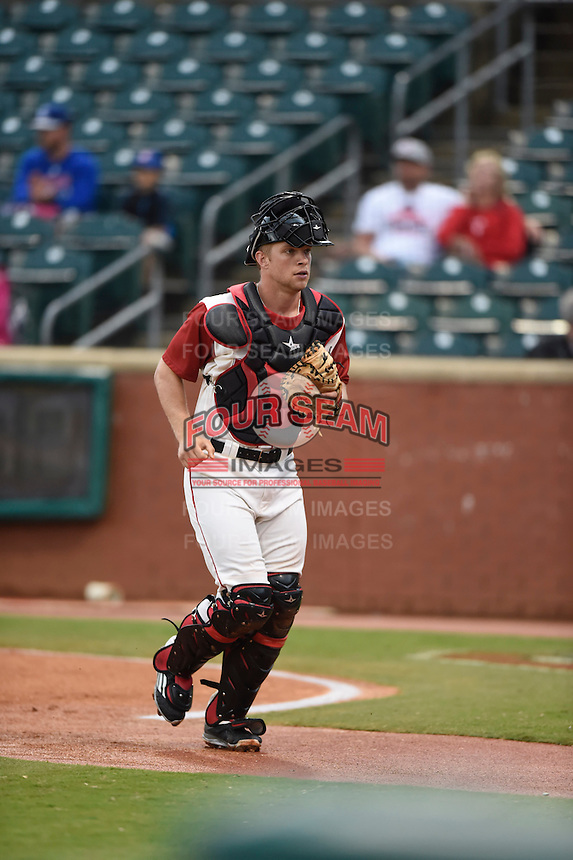 ***Temporary Unedited Reference File***Chattanooga Lookouts catcher Stuart Turner (30) during a game against the Montgomery Biscuits on May 2, 2016 at AT&T Field in Chattanooga, Tennessee.  Chattanooga defeated Montgomery 9-6.  (Mike Janes/Four Seam Images)