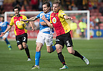 Partick Thistle v St Johnstone&hellip;10.09.16..  Firhill  SPFL<br />Liam Lindsay battles with Paul Paton<br />Picture by Graeme Hart.<br />Copyright Perthshire Picture Agency<br />Tel: 01738 623350  Mobile: 07990 594431