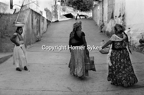 Telephec Mexico Indian women.Village fiesta.