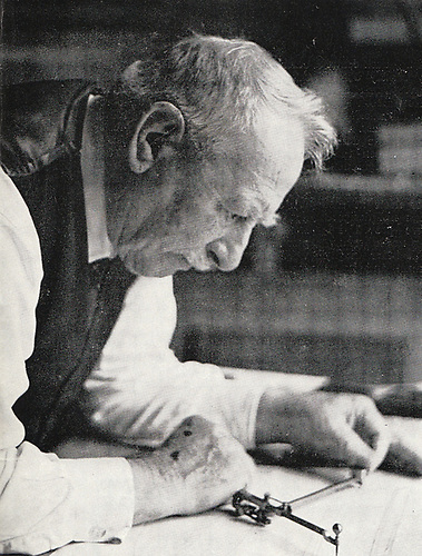 John B Kearney, aged 83, at work in 1963 on the plans of his largest yacht, the 53ft Tyrrell of Arklow-built Helen of Howth