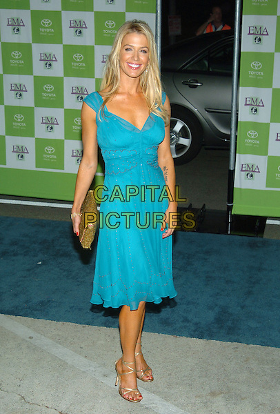 POPPY MONTGOMERY.14th Annual Environmental Media Association Awards held at the Wilshire Ebell Theatre..17 November 2004 .full length, turquoise dress, strappy sandals.www.capitalpictures.com.sales@capitalpictures.com.© Capital Pictures.
