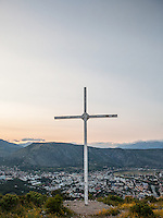 Holy Cross on the Hum Hill overlooking the city of Mostar.