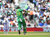 June 18th 2017, The Kia Oval, London, England;  ICC Champions Trophy Cricket Final; India versus Pakistan; Fakhar Zaman of Pakistan top edges the ball for 4