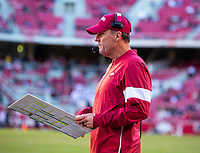 Mississippi State Bulldogs vs Arkansas Razorback - Head coach of Arkansas Chad Morris against Mississippi State  at Donald W. Reynolds Stadium, Fayetteville, on Saturday, November 2, 2019 / Special to NWA Democrat Gazette David Beach