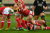 9th June 2017, Westpac Stadium, Wellington, New Zealand; International Womens Rugby; New Zealand versus Canada;  Canada's Chelsea Guthrie makes a pass